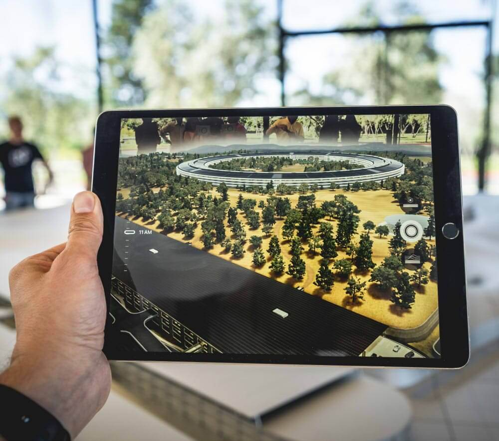 Foto Tablet mit Augmented Reality Anwendung