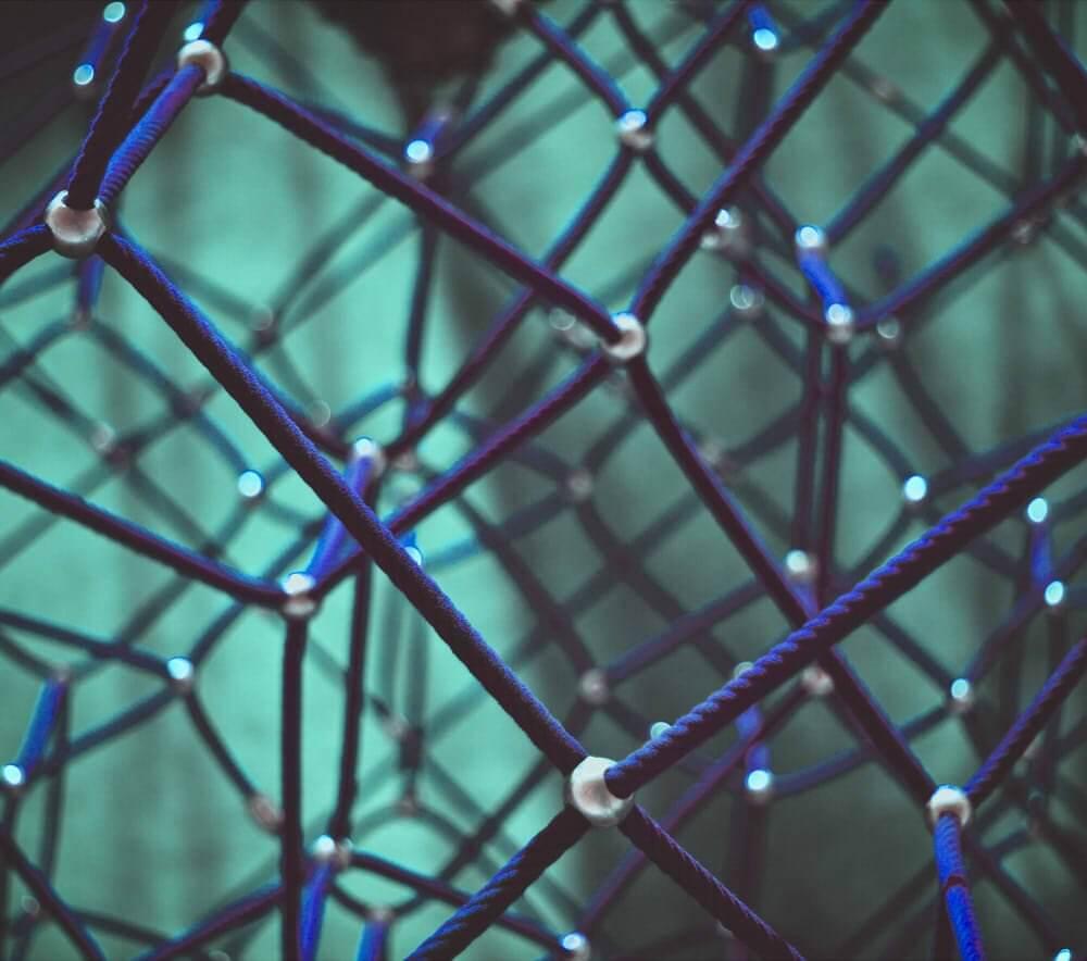 Bild von Netz mit Knotenpunkten